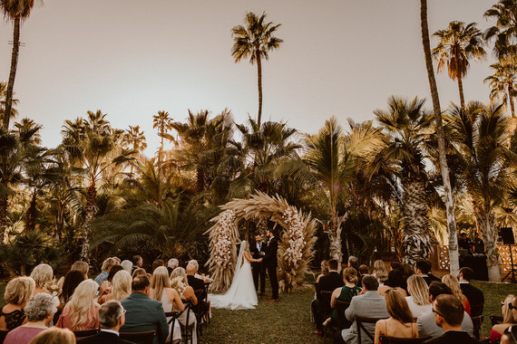 Pampas grass ceremony arch