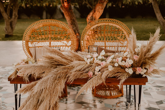 Pampas Grass sweetheart table