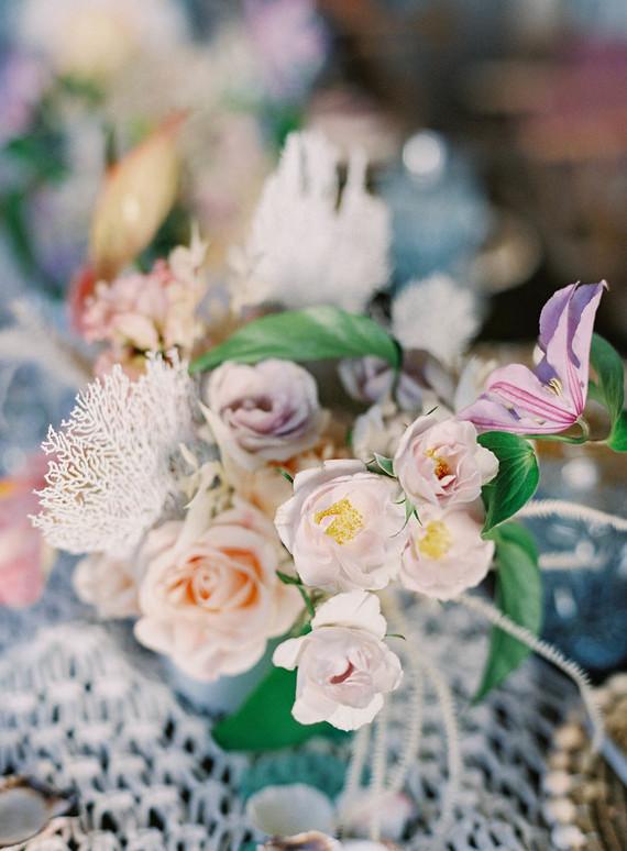 soft floral arrangement