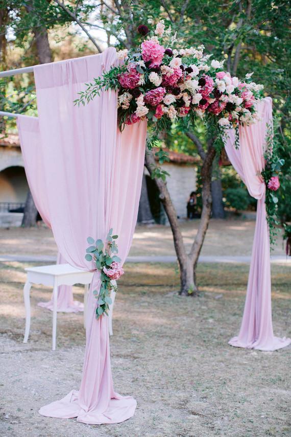 pink floral chuppah