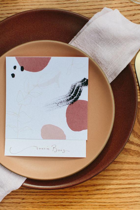 pink modern menu design