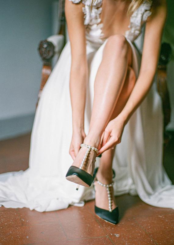 beaded bridal heels