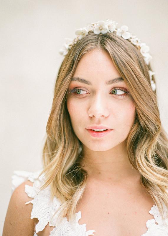 floral headpiece for bride