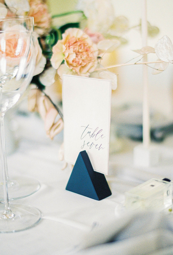 elegant calligraphed table numbers