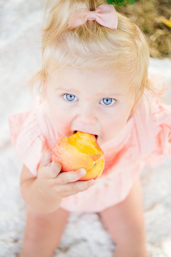 peach themed 1st birthday party