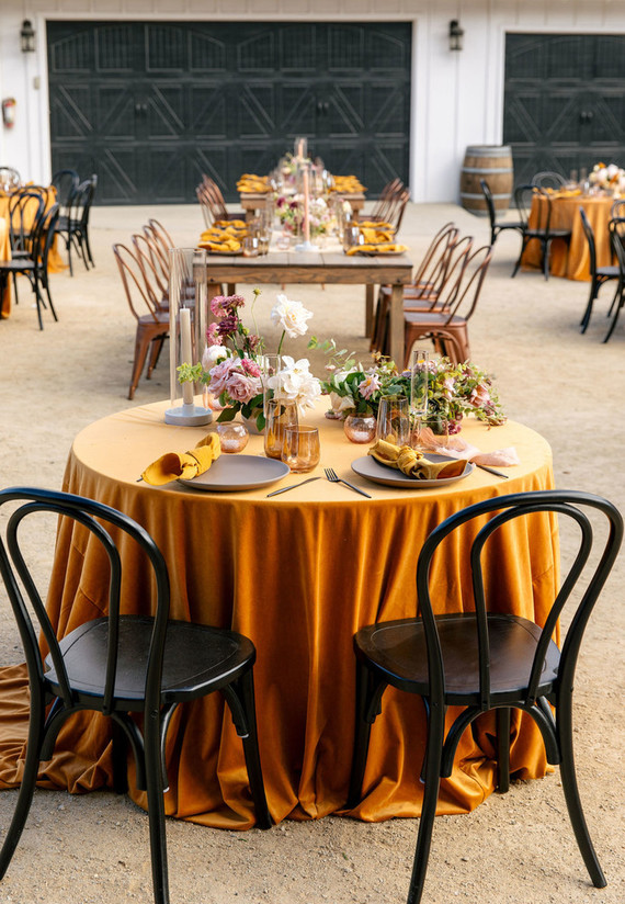 mustard + blush wedding ideas