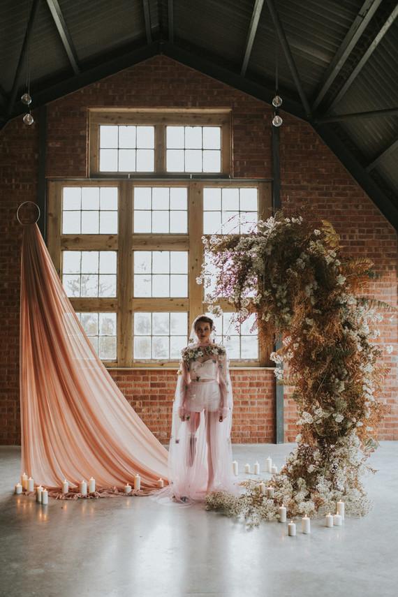 dried floral wedding arch