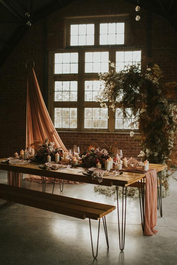 dried floral wedding decor