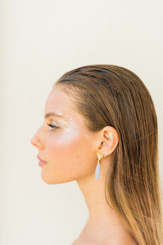 glitter bridal makeup