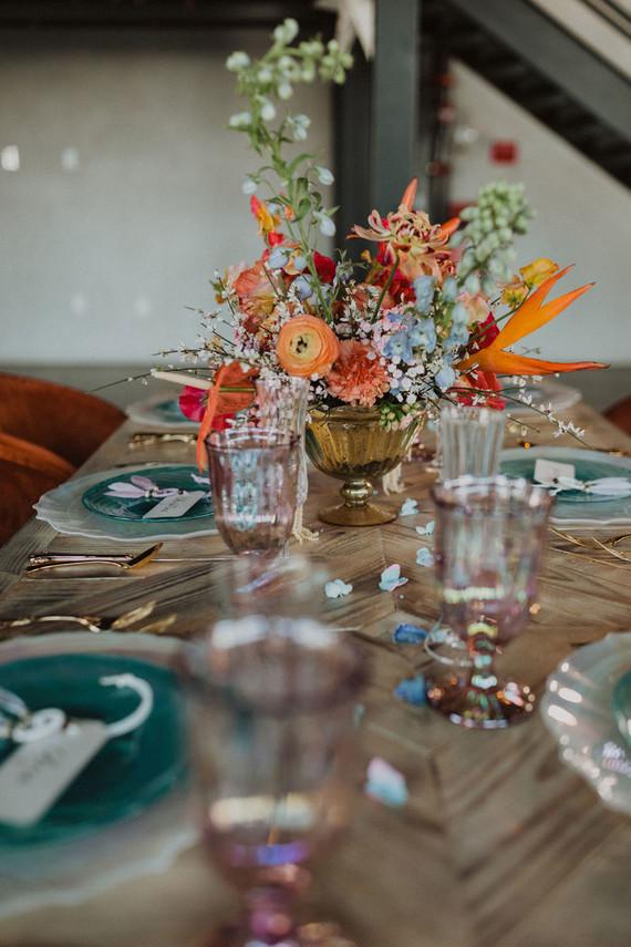 colorful coachella inspired wedding ideas
