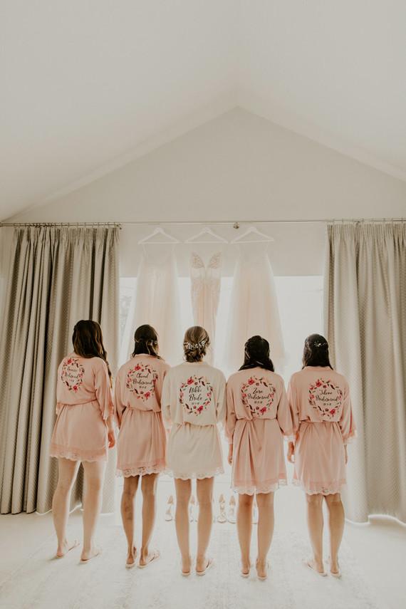blush bridesmaid robes