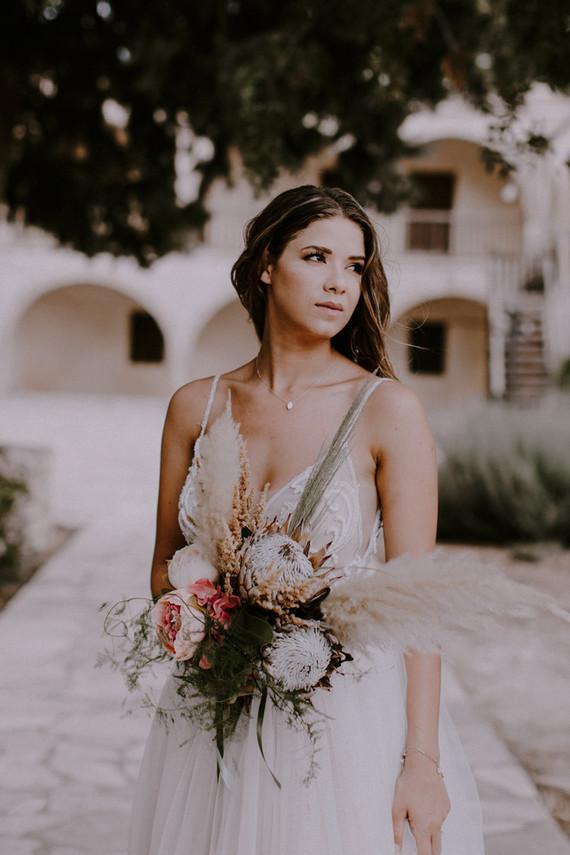 king protea bridal bouquet