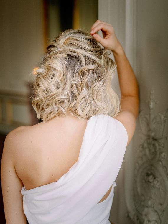 tousled bridal hair