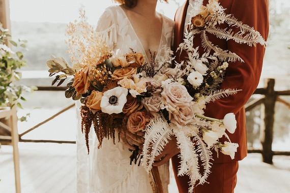 bohemian fall wedding bouquet