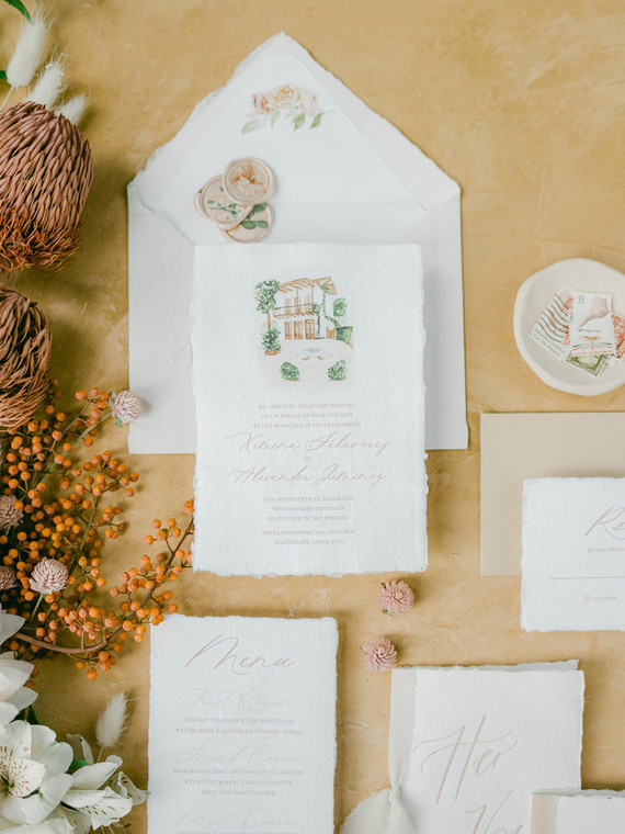 Costa Rica wedding invitations
