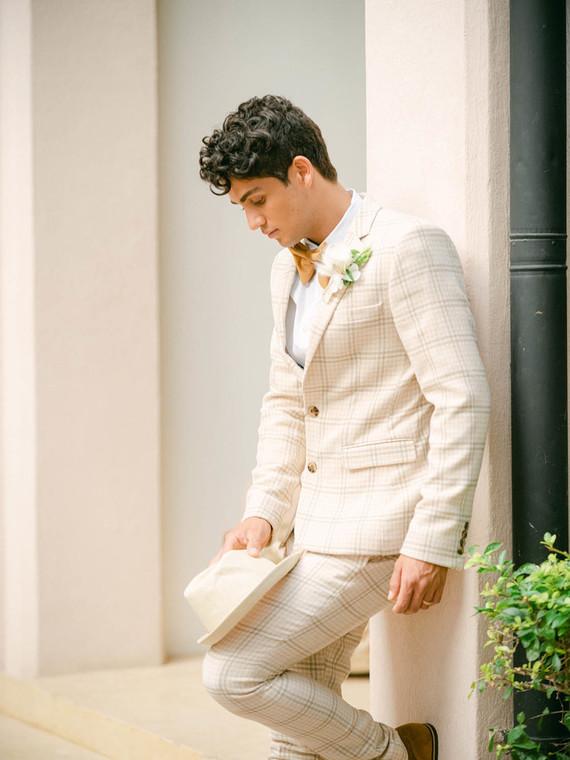 unique plaid grooms suit