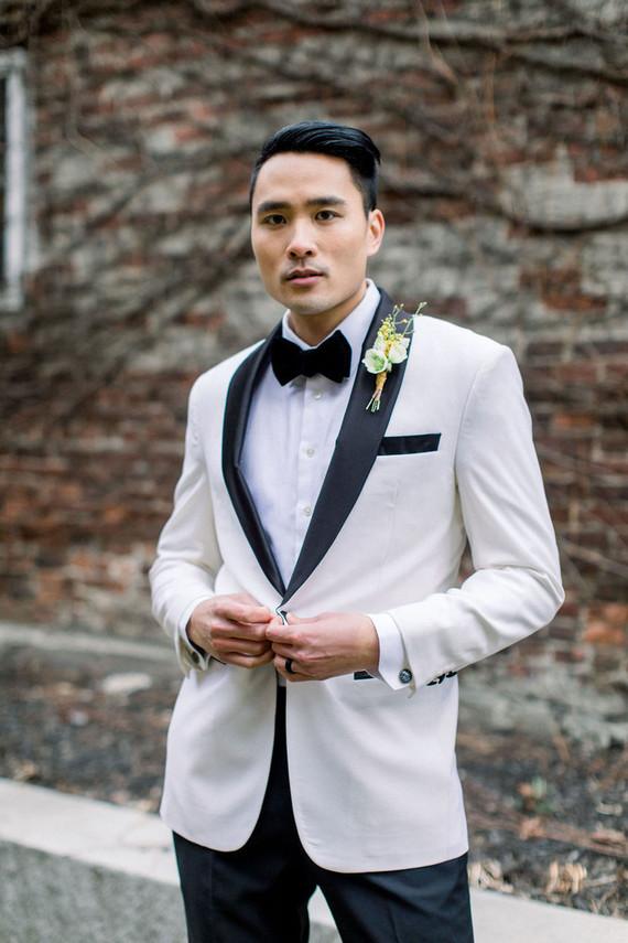 modern white suit jacket