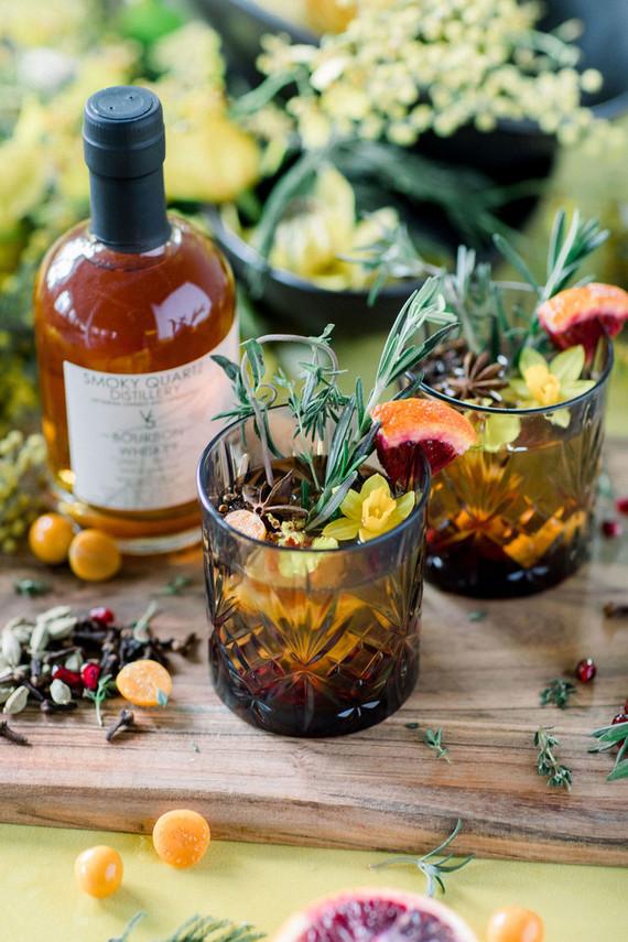 spring signature cocktails for wedding