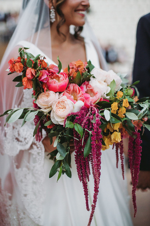 coral charm peony bridal bouquet