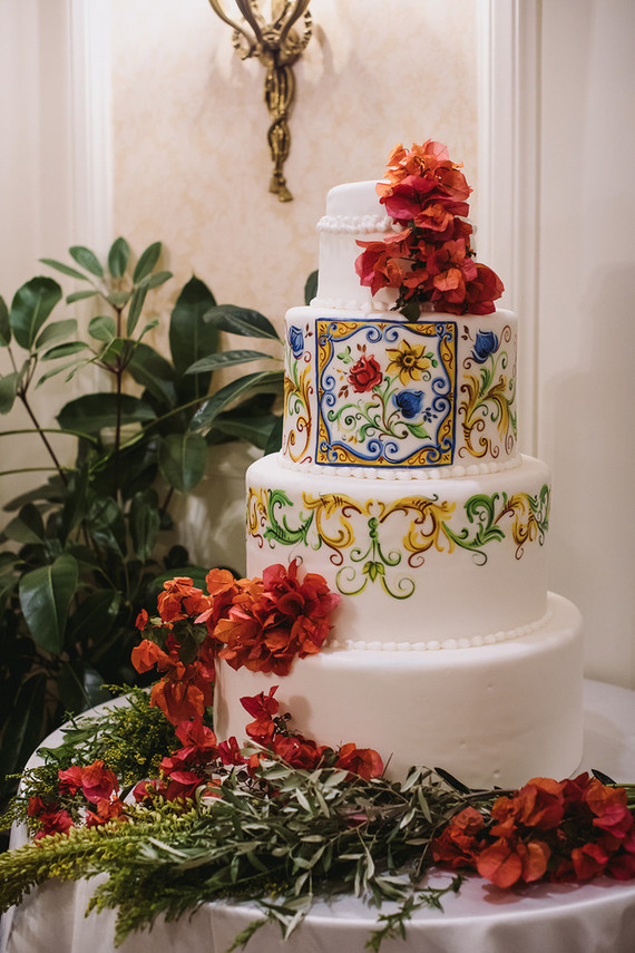 Sicily inspired wedding cake