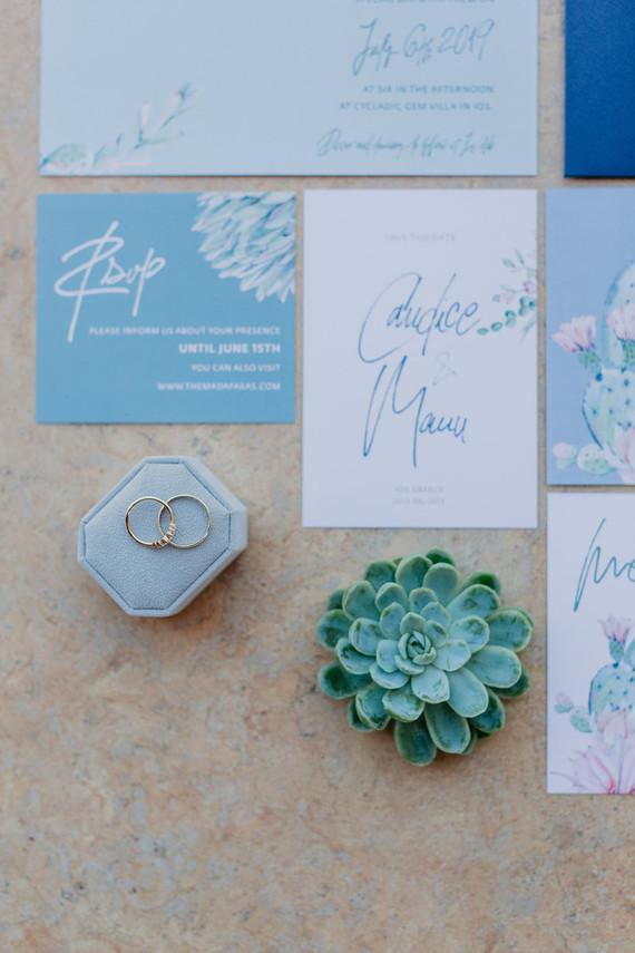 Greece wedding invitations