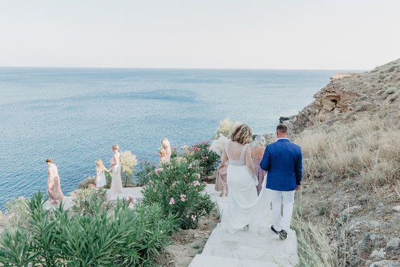 Cliffside wedding in Greece