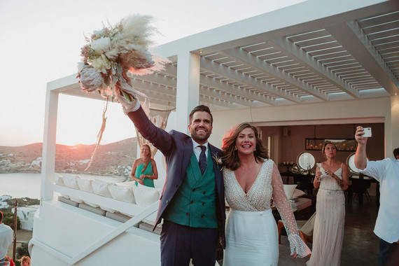 Sunset wedding at Ios Club