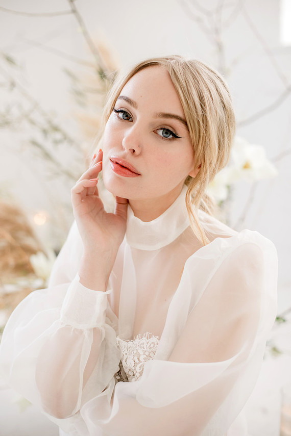 sheer bridal fashion