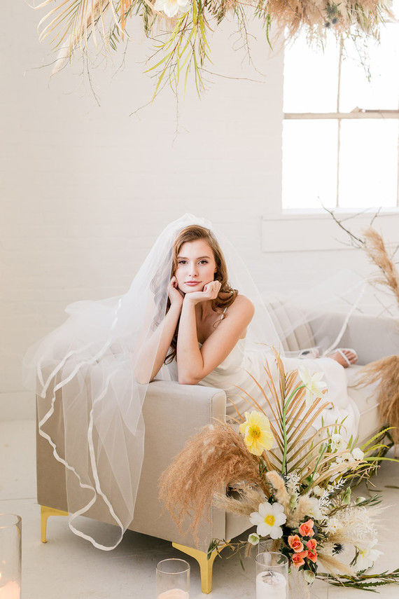 modern minimalist bridal fashion