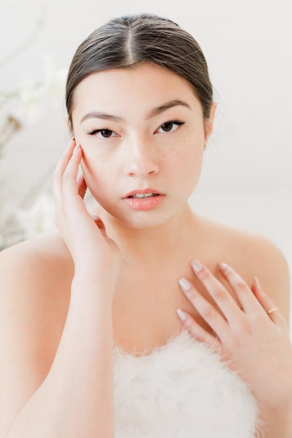 modern minimalist bridal makeup