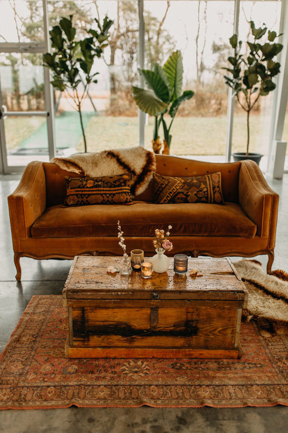 desert inspired lounge at wedding
