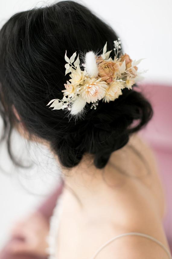 dried flower bridal headpiece