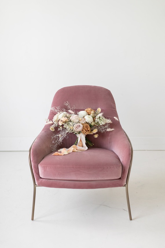 dried flower bridal bouquet