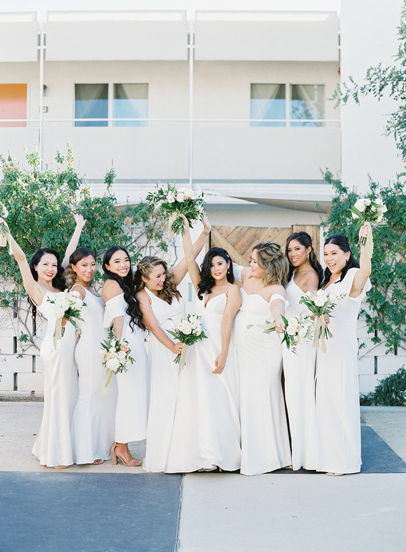 chic modern BHLDN wedding dress