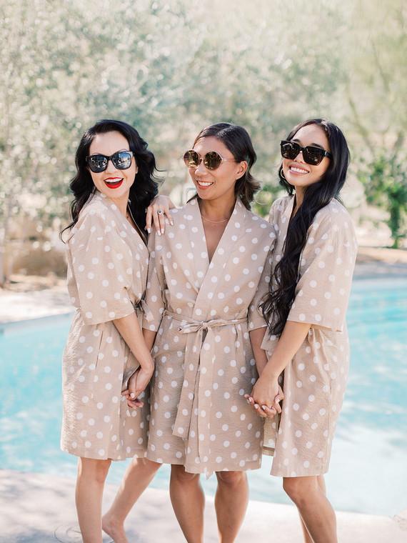 polkda dot bridesmaid robes