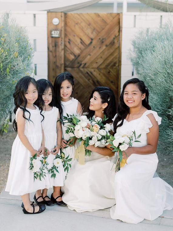 white flower girls
