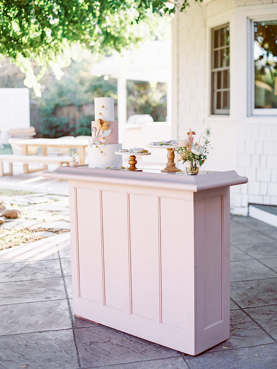 dessert table for Charlotte's Web themed spring baby shower