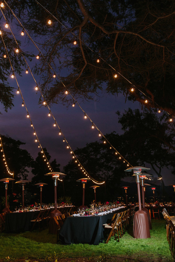 string lights for wedding reception