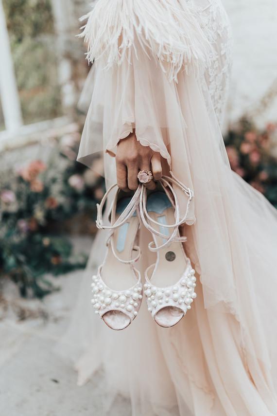 pearl bridal heels