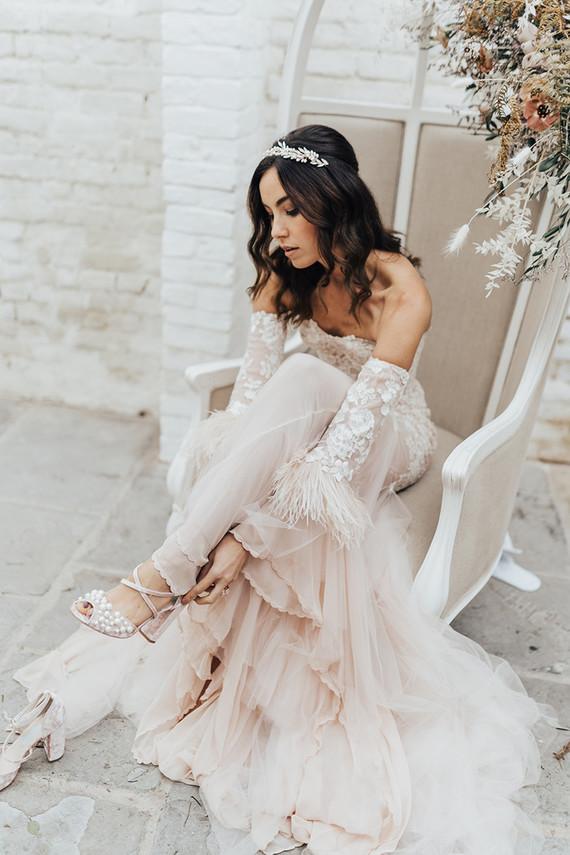 glam wedding gown