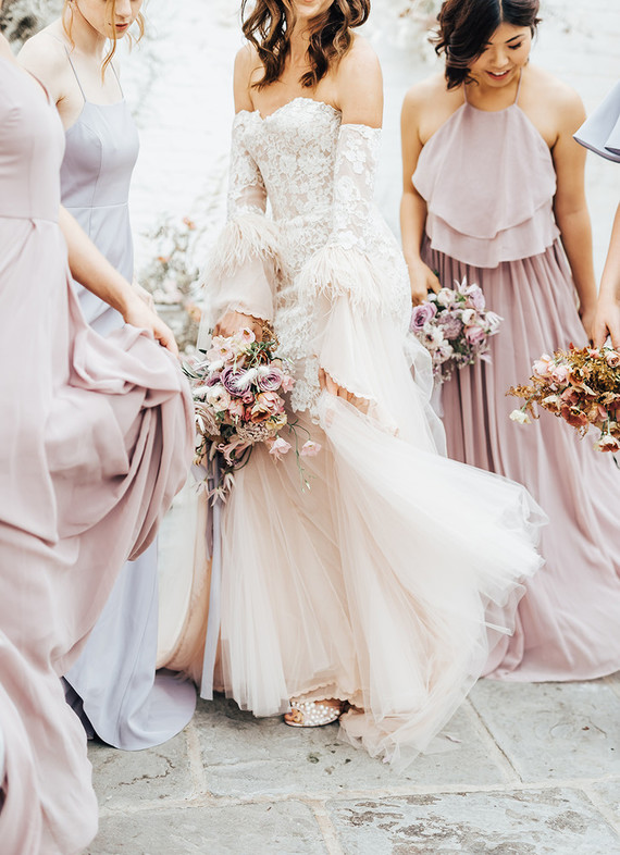 pastel spring bridesmaids