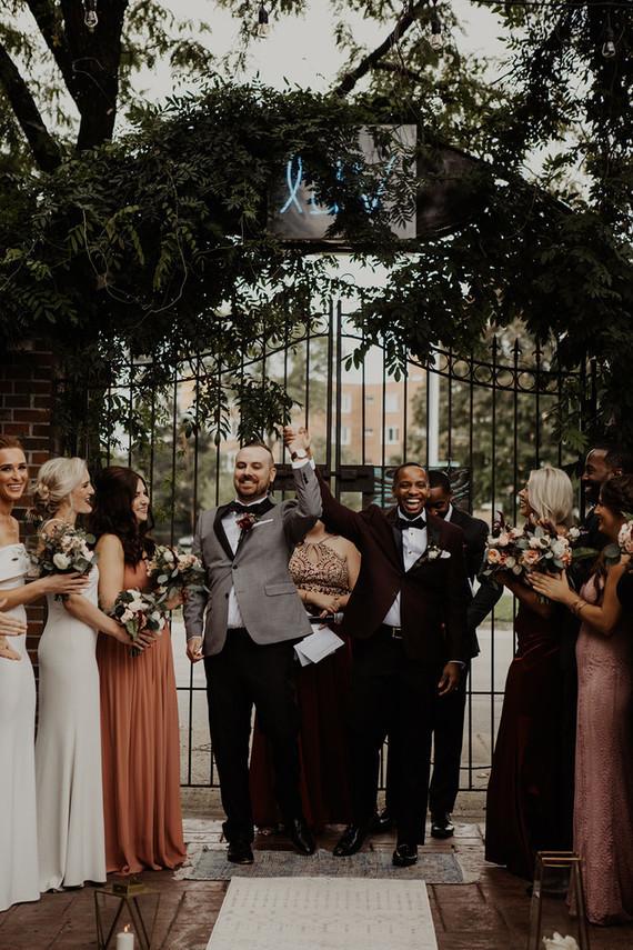 Mixed race wedding