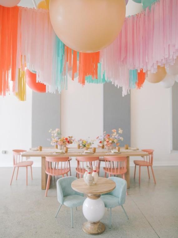 Kids birthday balloon decor