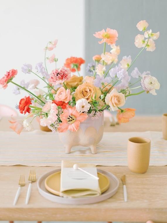 pastel floral arrangement
