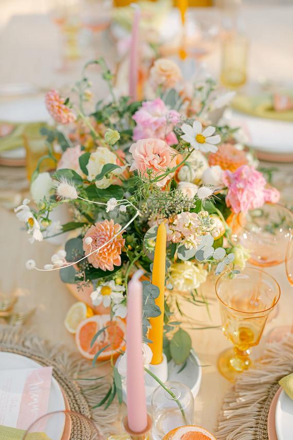 Tropical modern wedding