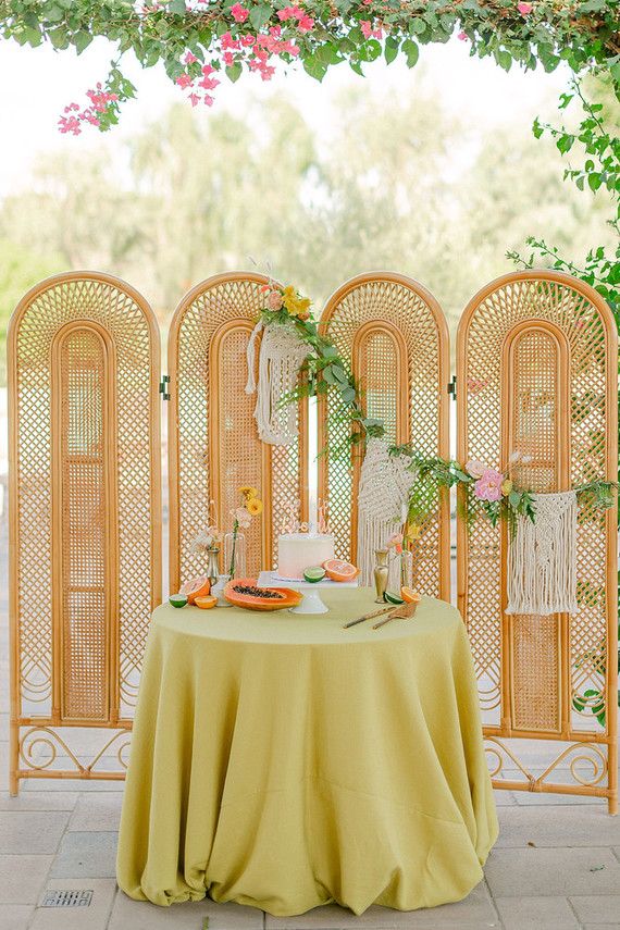 Summer tropical wedding