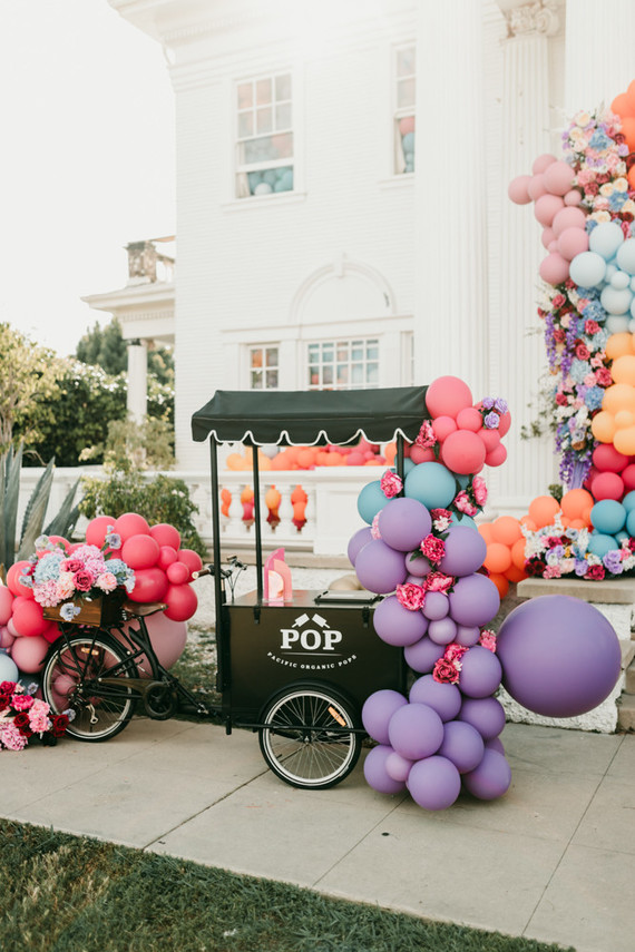 popsicle cart for a kids birthday party