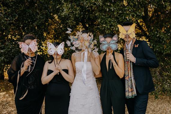 butterfly themed wedding in Carmel Valley