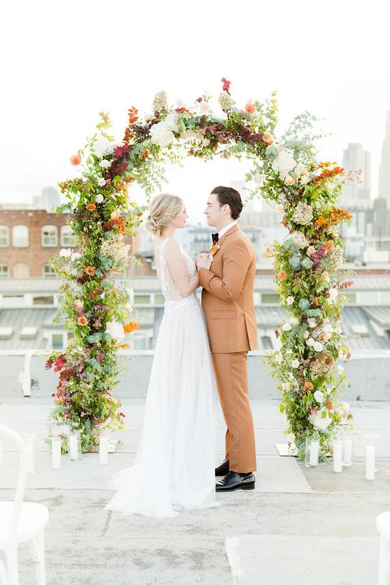 rooftop autumn elopement