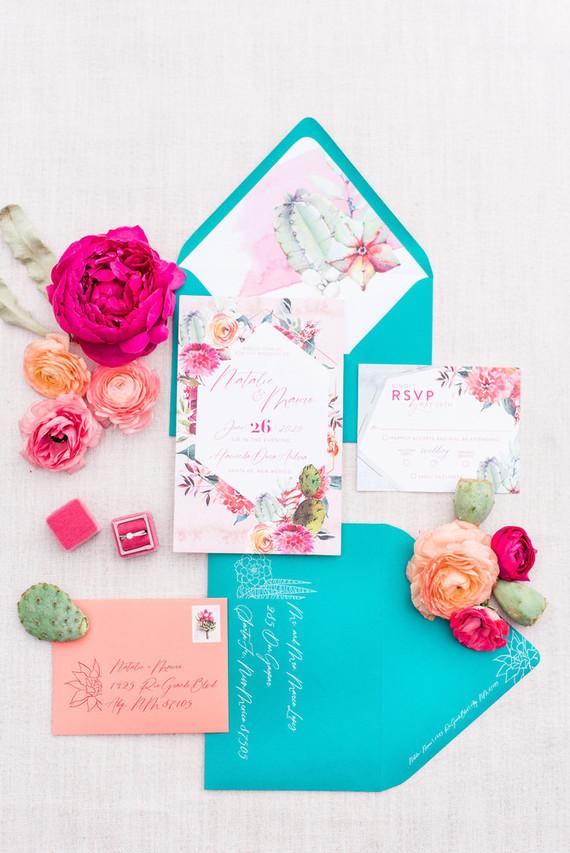 Southwestern wedding invites